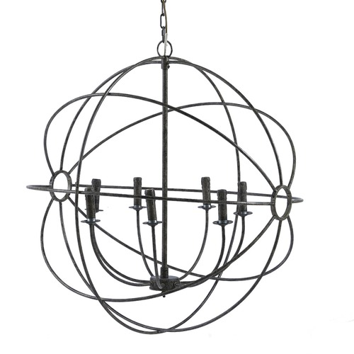Global Gatherings Taupe Iron Orb Chandelier