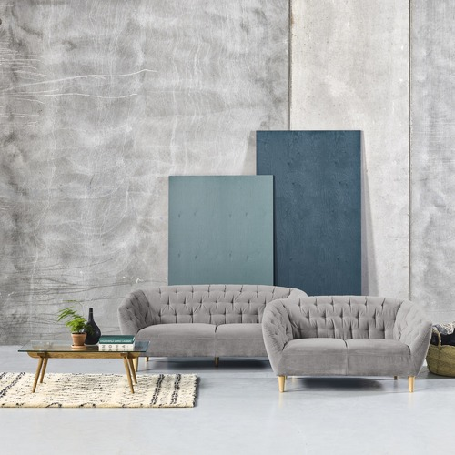 Global Gatherings Studio Tufted 3 Seater Sofa