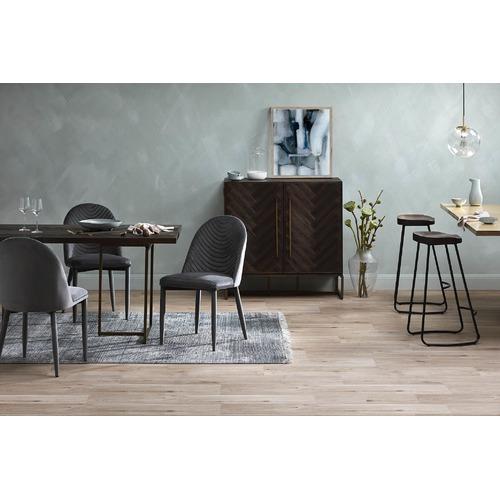 Global Gatherings Industrial Moulded Elm Wood Barstools