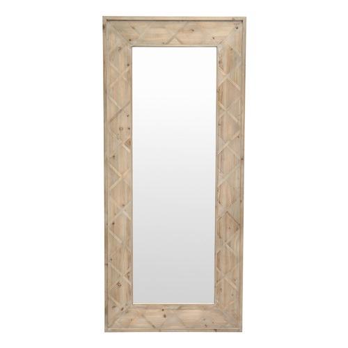 Global Gatherings Natural Linda Cross Frame Mirror