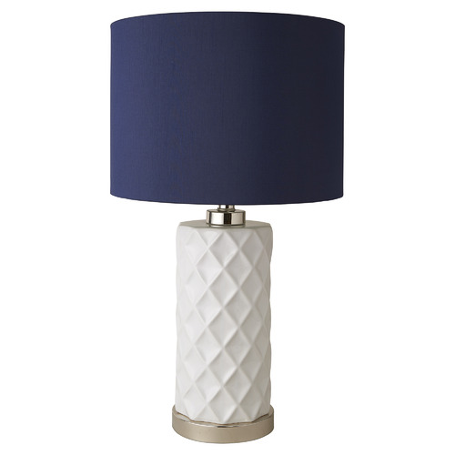 Global Gatherings Hampton Ceramic Lamp with Linen Shade
