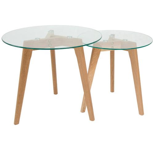 2 Piece Oslo Nesting Side Table Set