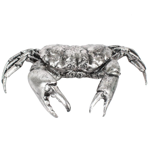 Global Gatherings Antique Silver Crab Ornament