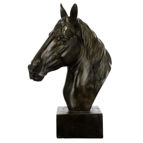 Global Gatherings Antique Brown Horse Sculpture