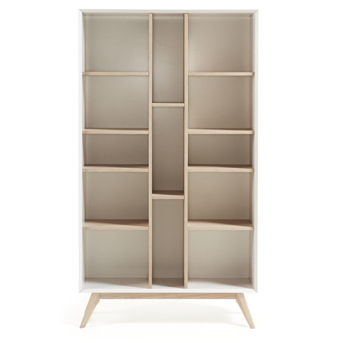 Linea Furniture Eunice White & Ash Bookshelf