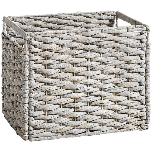 Linea Furniture White Ellie Wicker Container