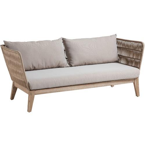 3 Seater Beige Acacia Rope Sofa