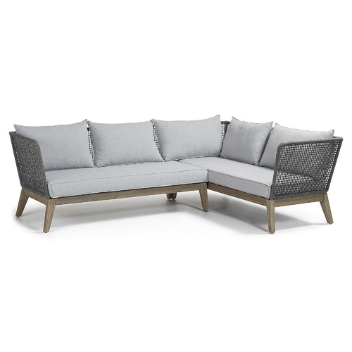 Linea Furniture Dark Grey Coen 5 Seater Outdoor Corner Sofa