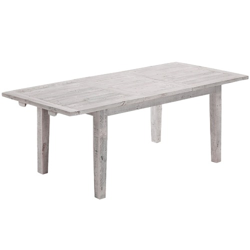 Linea Furniture White Wash Camacho Extendable Dining Table