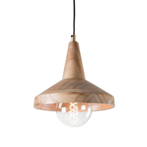 Linea Furniture Natural Wood Oli Pendant Light