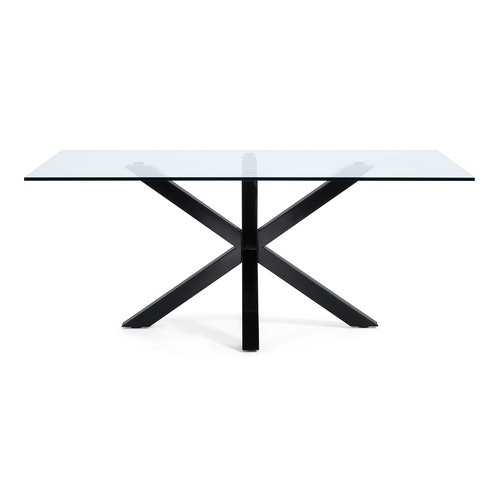 Linea Furniture Clear Weiss Glass Dining Table