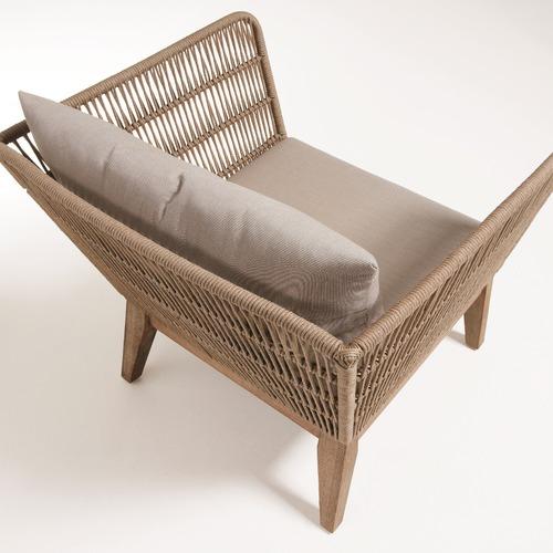 Beige Velma Acacia Rope Armchair