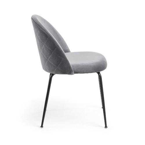 Linea Furniture Black Leg Velvet Dining Chair