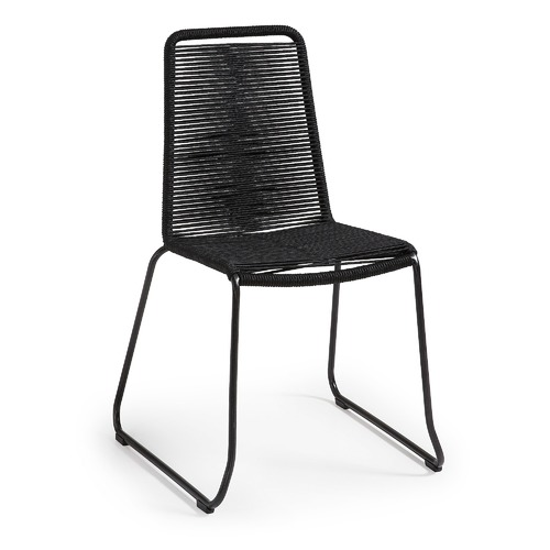 Linea Furniture Black Gough Rope Outdoor Chair