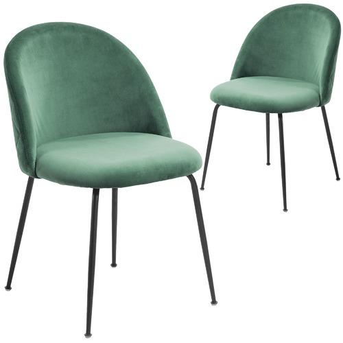 dda6c81fc00b Linea Furniture Black Leg Velvet Dining Chair & Reviews | Temple ...