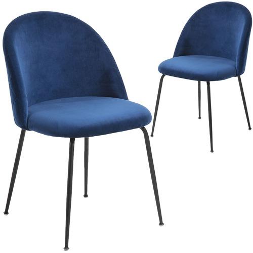 Linea Furniture Colette Black Leg Velvet Dining Chair