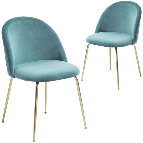 Linea Furniture Gold Leg Velvet Dining Chair  sc 1 st  Temple u0026 Webster & Gold Leg Velvet Dining Chair   Temple u0026 Webster