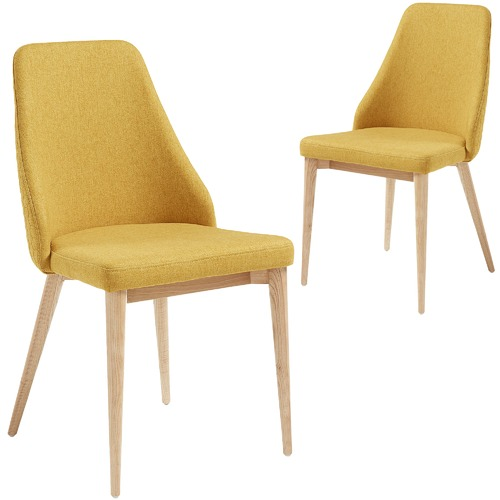 Linea Furniture Quilted Fabric Dining Chair