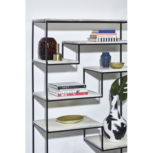 Linea Furniture Kaylen Mango Wood Bookshelf