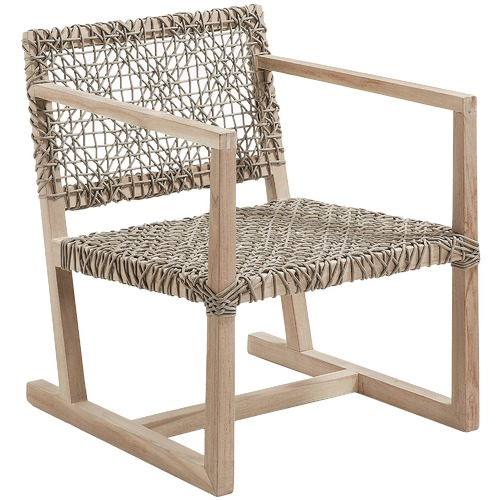 Linea Furniture Natural Aldo Rope Outdoor Armchair
