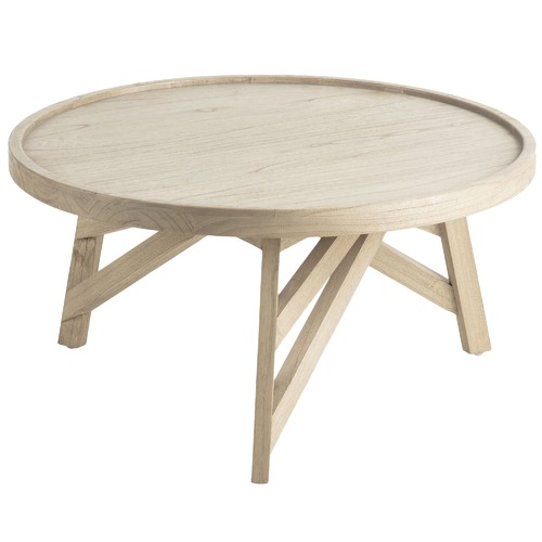Linea Furniture Hadley Round Wood Coffee Table