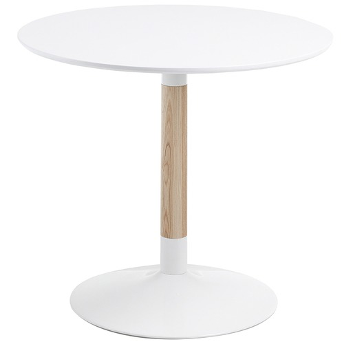 White Caitriona Round Dining Table