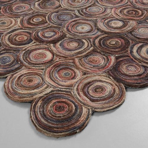 Linea Furniture Lister Disc Wool Rug