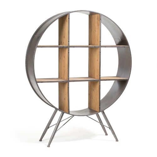 Linea Furniture Black Felka Round Shelf Unit