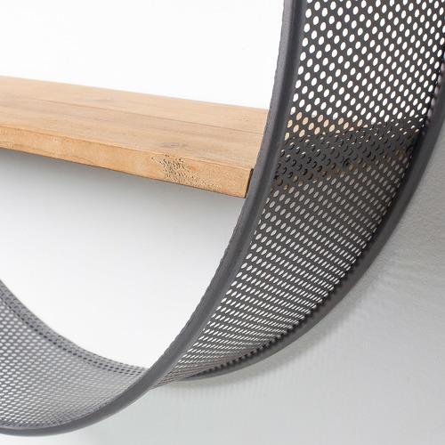 Linea Furniture Round Felton Wall Shelf Unit