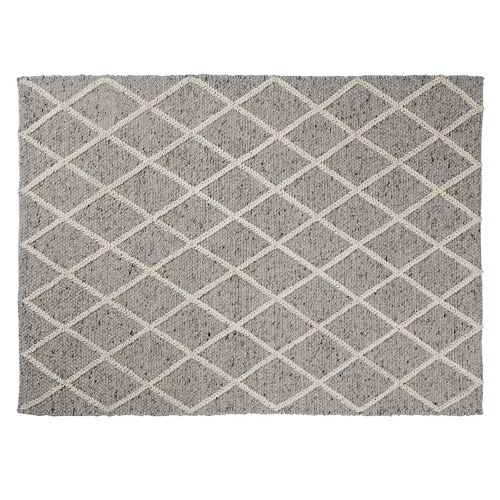 Linea Furniture Light Grey Gemma Wool Rug