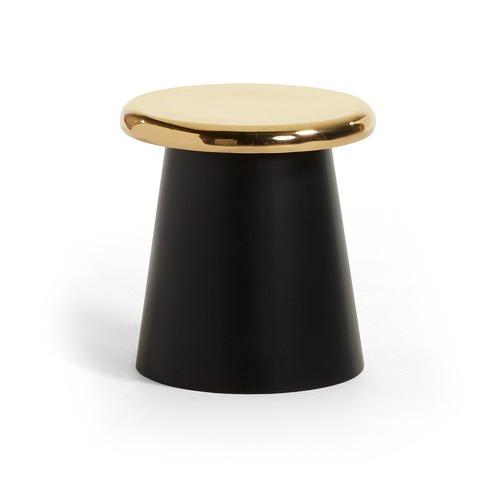Linea Furniture Black & Brass Thoren Side Table