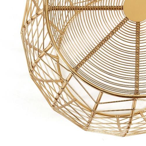 Linea Furniture Brass Rufus Side Table