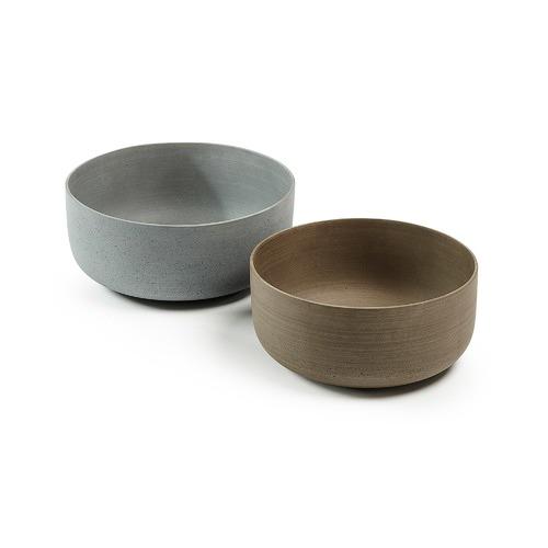 Linea Furniture 2 Piece Teagan Poly-Cement Bowl Set