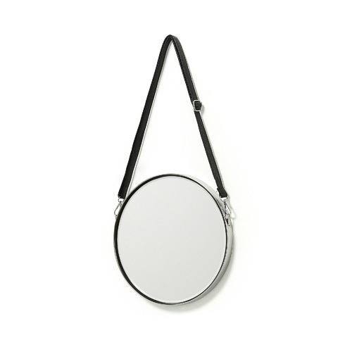Linea Furniture Silver Melody Round Wall Mirror