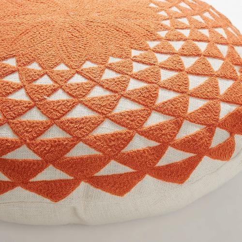 Linea Furniture Geometric Sosa Round Cotton Cushion