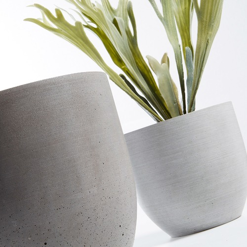 Linea Furniture 2 Piece Naomi Poly-Cement Pot Set