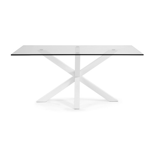Linea Furniture Clear & White Halvor Dining Table