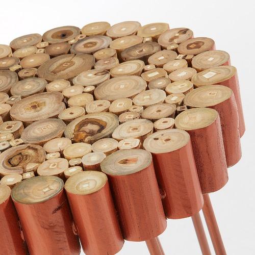 Linea Furniture Copper Laveda Metal & Wood Barstool