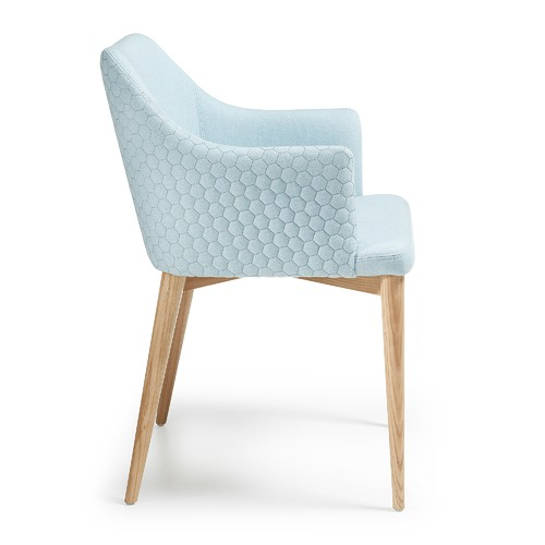 Alberta Quilted Fabric Armchair