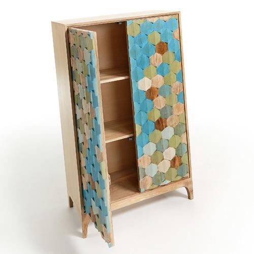 Linea Furniture Wicus 2 Door Storage Cabinet