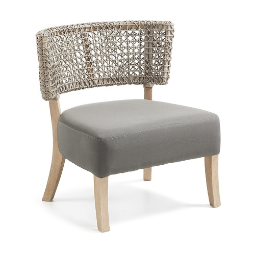 Linea Furniture Grey Aekerley Rope Accent Chair