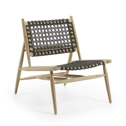 Linea Furniture Dark Grey Maite Rope Outdoor Armchair