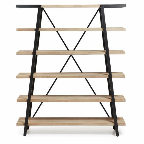 Linea Furniture Elisa Acacia Wood & Metal Bookshelf