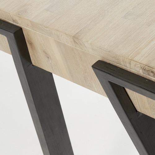 Linea Furniture Natural Elisa 2 Drawer Oak Desk