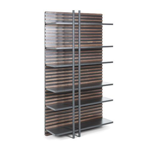 Linea Furniture Graphite & Walnut Edyth Bookshelf