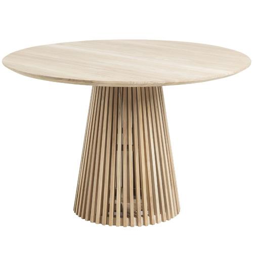 Linea Furniture Darla Round Teak Wood Dining Table