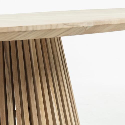 Darla Round Teak Wood Dining Table