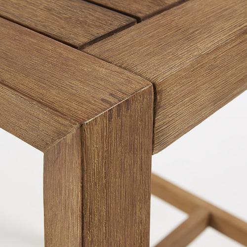 Linea Furniture Cilla Wood Outdoor Square Bar Table