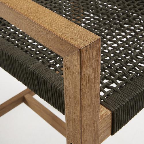 Linea Furniture 77cm Silas Eucalyptus Wood Barstool