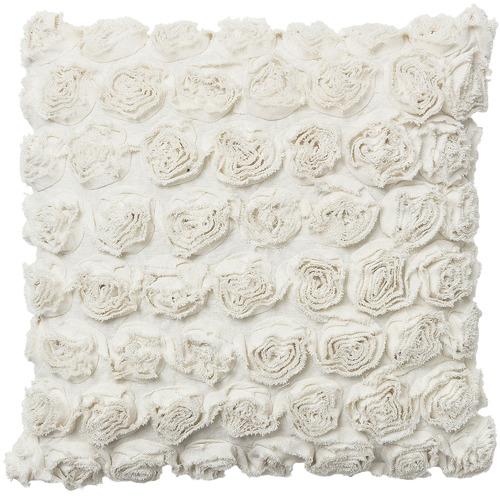 Linea Furniture White Rosette Cushion